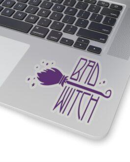 Bad Witch Halloween Sticker