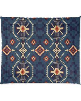 Tribal Blues Comforter – 104×88