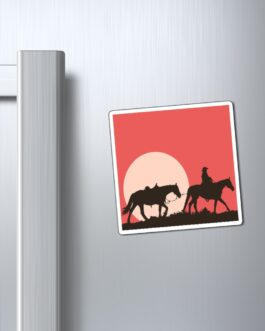 Horse And Rider Headin' Home Magnet