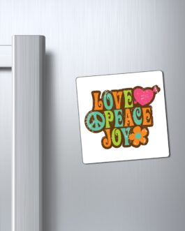 Groovy Love Peace Joy Magnet