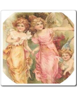 Three Pretty Kids Fairy Magnet