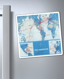 Pan Am Vintage World Routes Map Magnet
