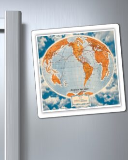 Pan Am Vintage World Routes Magnet