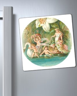 Fairies And Swans Down A River Magnet