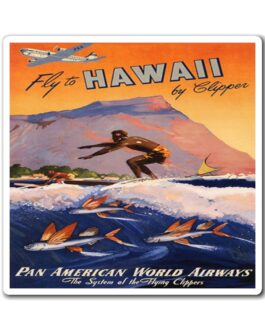 Pan Am Surfing In Hawaii Poster Magnet
