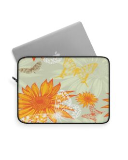 Sunflowers And Butterflies Laptop Sleeve