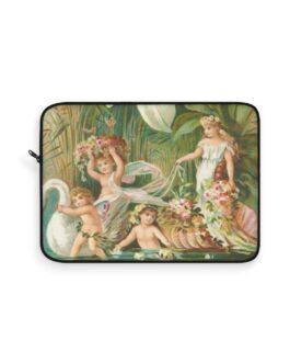 Angels And Fairies On A Swan Laptop Sleeve