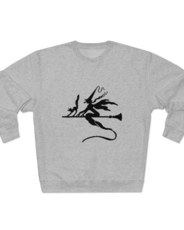 Witch And Her Cat Riding A Broom Sweatshirt