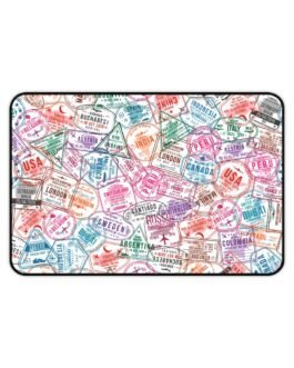 Stamp Our Passports Desk Mat
