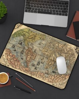 Old World Map At Your Fingertips Desk Mat