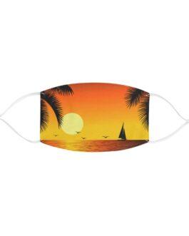 Beachy Sunset And Sailboat Face Mask