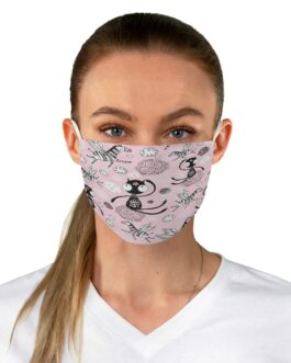 Cats And Zebras Galore Fabric Face Mask
