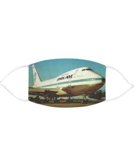 Pan Am 747 Clipper Freedom Face Mask