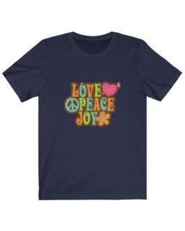 Love Peace & Joy Retro Tee