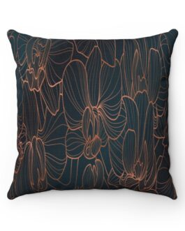 Orchids In Green And Gold Sofa Pillow