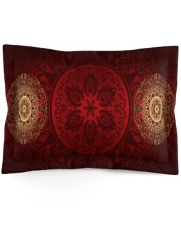 Red And Gold Together Forever Pillow Sham