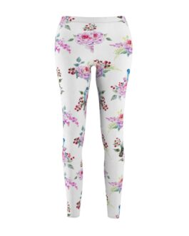 Bluebirds And Roses Leggings
