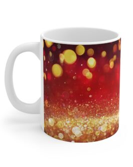 Red And Gold Christmas Swirl Mug