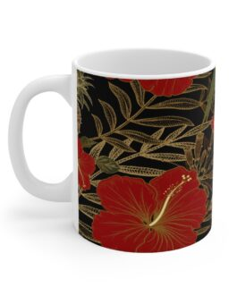 Parrot In Green Red And Gold Mug