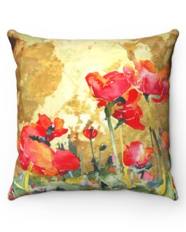 Poppies In Bloom Sofa Pillow