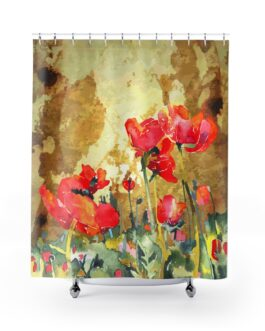 Poppies In Bloom Shower Curtains