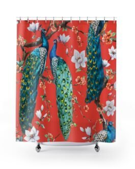 Peacocks, Peacocks Shower Curtains