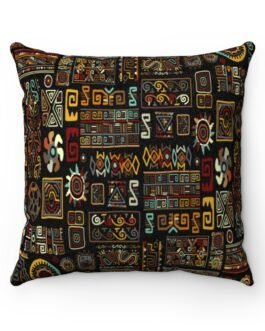 Busy Tribal Pattern Square Pillow