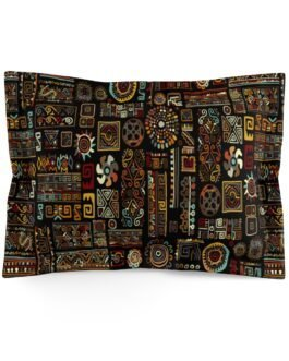 Busy Tribal Pattern Pillow Sham