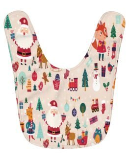 Christmas Icons Baby Bib