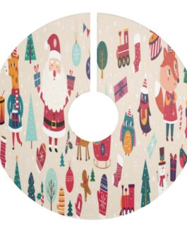 Christmas Icons Tree Skirt
