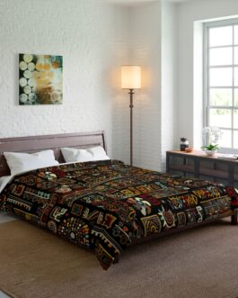 Busy Tribal Pattern Comforter