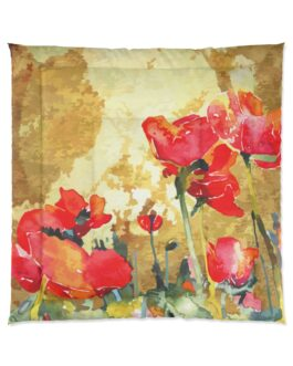 Poppies Of The Field Comforter
