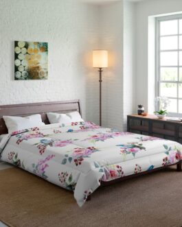 Bluebirds And Roses Comforter