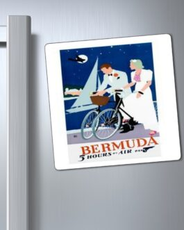 Pan Am Bermuda On Bicycles Magnet