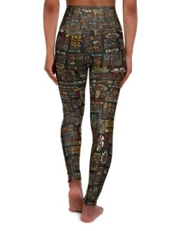 Busy Tribal Pattern High Waisted Yoga Leggings
