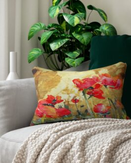 Poppies In Bloom Lumbar Pillow