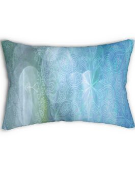 Ocean Blue And Blue Blue Wheels Lumbar Pillow