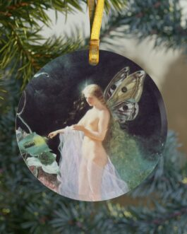 Angel With Light Glass Ornament