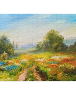 Fields Of Flowers In Oil 252 Piece Puzzle