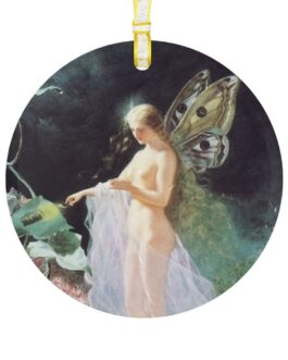 Christmas Angel With Light Glass Ornament