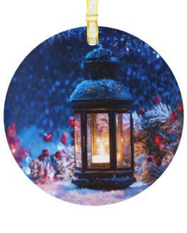 Christmas Lantern Glass Ornament