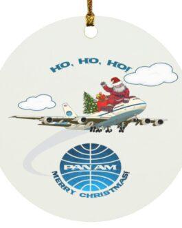Christmas Pan Am Santa And The 747 Ornament